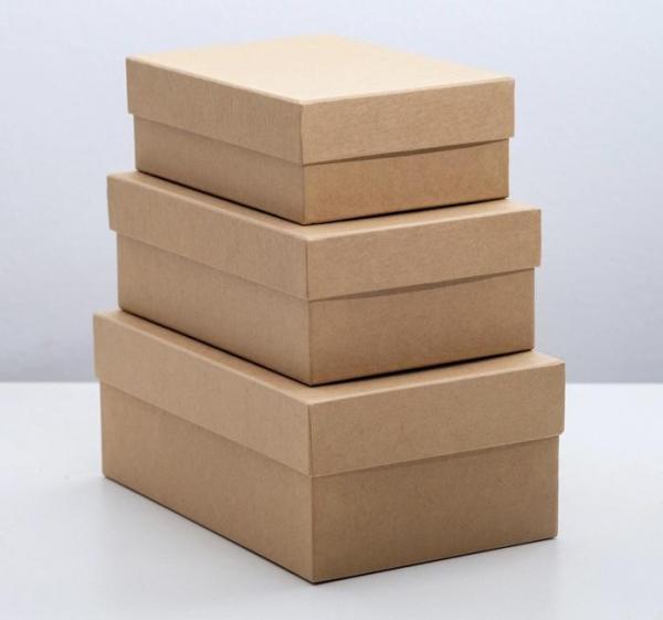 """Коробка """"Крафт однотонный"""", 19 х 12 х 7,5 - 15 х 10 х 5 см"""