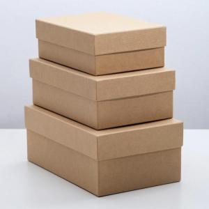 """Коробка """"Крафт однотонный"""", 19 х 12 х 7,5 – 15 х 10 х 5 см"""