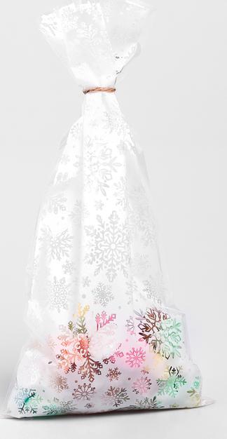 Пакет подарочный пластиковый «Снежного Нового Года»