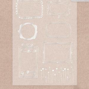 Калька декоративная с фольгированием «Рамочки»