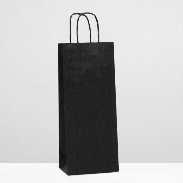Пакет под бутылку, черный