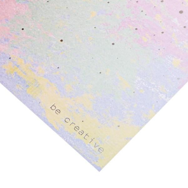 Скрапбукинг открытки  с фольгированием «Будь креативным», 20 × 20 см, 250 г/м