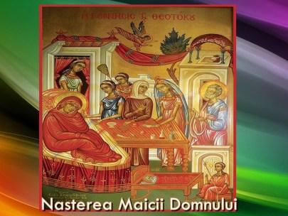 Tâlcuirea icoanei Nasterea Maicii Domnului