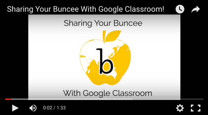 Sharing Your Buncee With Google Classroom