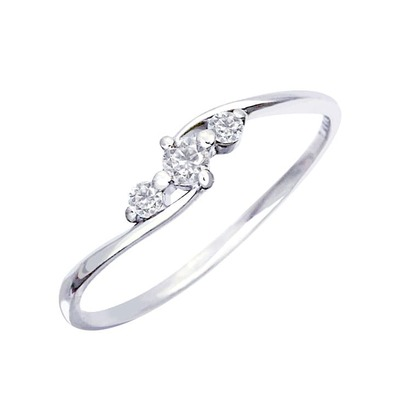 ララクリスティーのダイヤモンドリング 0.1ct エターナル