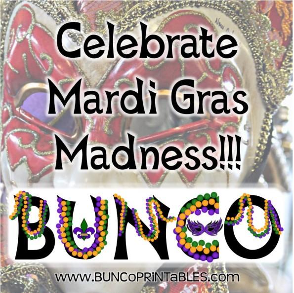 Mardi Gras Madness Bunco Bunco Printables
