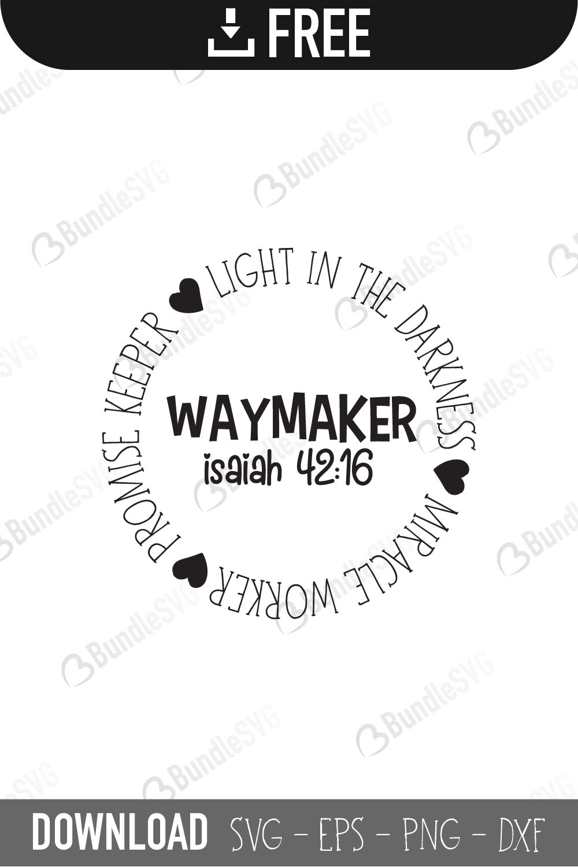 Download Way Maker Miracle Worker | BundleSVG