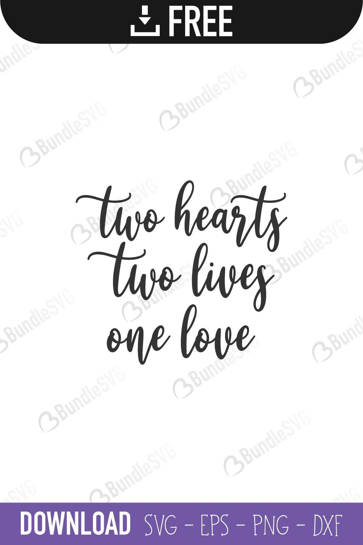 Download One Heart SVG Cut Files Free Download | BundleSVG