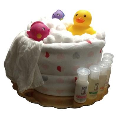 Splish splash nappy cake