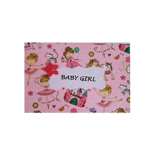 Pink ballerina handmade card