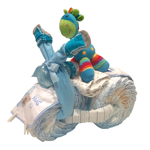 Blue nappy tricycle