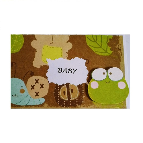 Baby gift card with frog