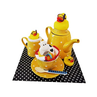 Tea time treats with baby products