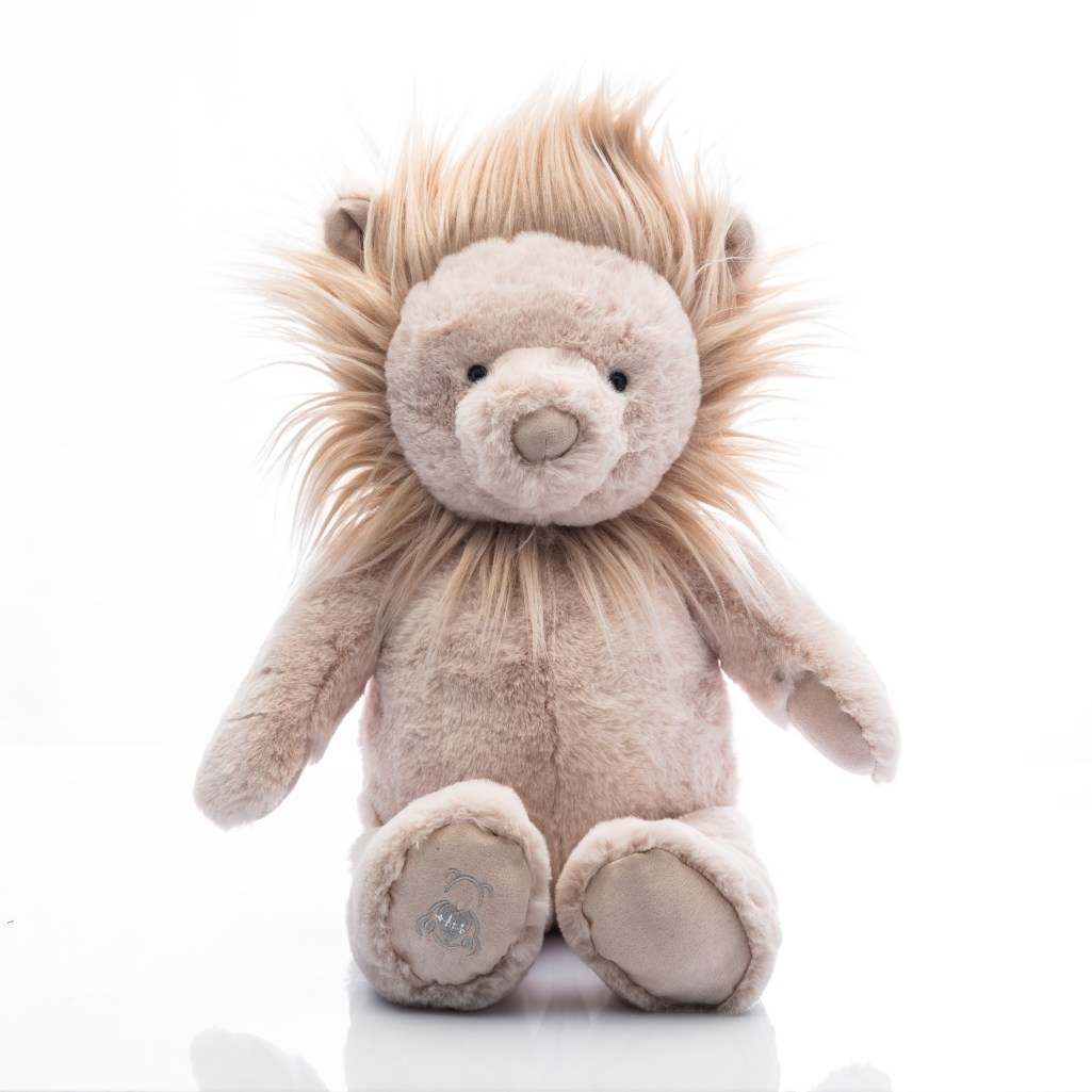 Baby Beats plush lion toy with heartbeat recorder