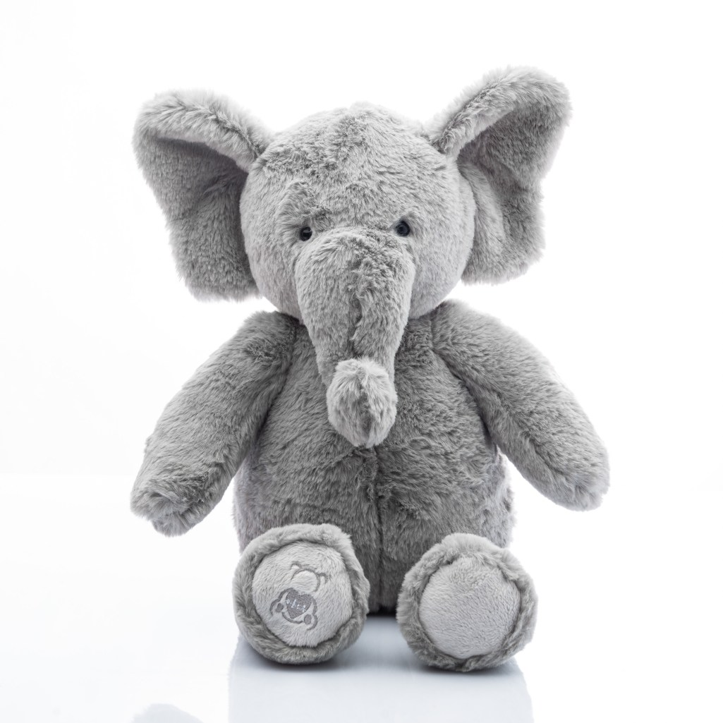 Baby Beats plush elephant toy with heartbeat recorder