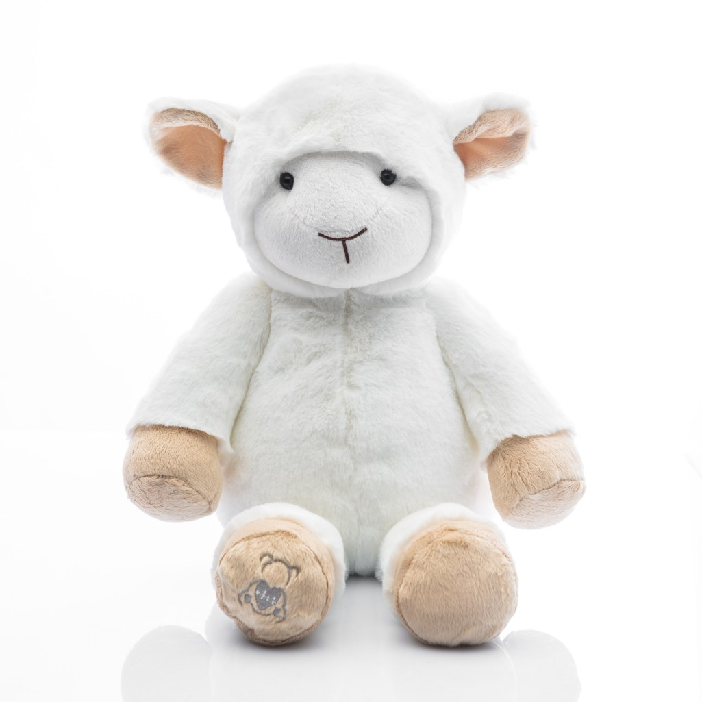 Baby Beats plush lamb toy with heartbeat recorder