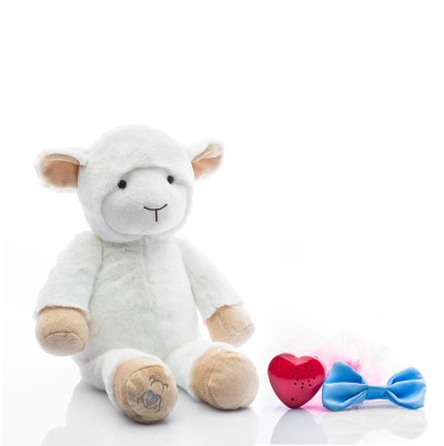 Baby Beats plush lamb toy with tutu and bowtie