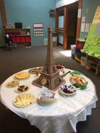 "Parents were invited to sample food prepared by children enrolled in Cynthia Wildridge's ""French Food: Bon appétit"" week-long camp at Lamplighter, Summer 2017"
