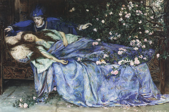 The fable of Sleeping Beuty by Charles Perrault is part of French course for children created and taught by Cynthia Wildridge bunetales.com
