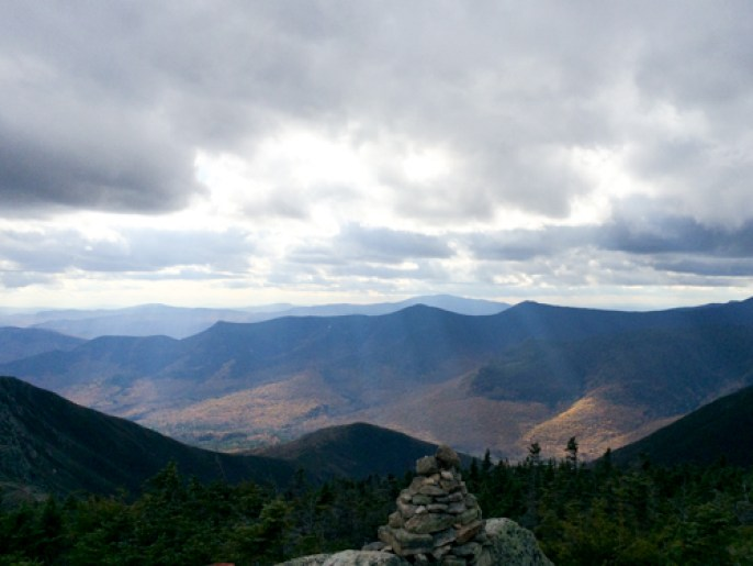 Looking northwest from Bondcliff, Pemigawasset Wilderness, New Hampshire, Fall 2014