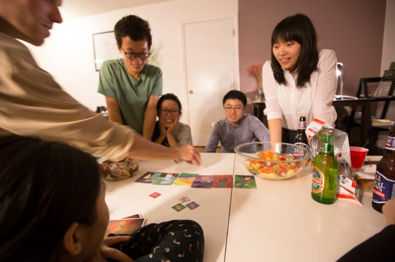 26th Nov, 2015: International students from China, India and France celebrated Thanksgiving by gatherng around a Chinese hot pot and playing a pictorial card game after. (Photo by: Nikita Sampath/BUNS)