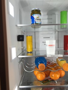 One of the two IP cameras inside the Home Connect refrigerator is destined to let consumers keep stock of their groceries on the go. Photo by: Lauren Popovich