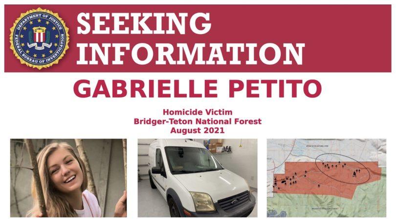 FBI Poster for Gabrielle Petito's Case