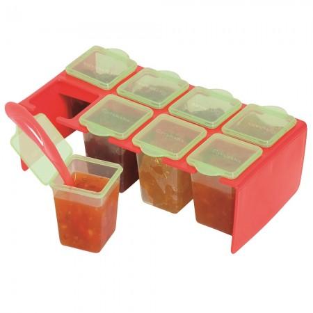 Cleva Portion Freezer & Storage Pots 80ml