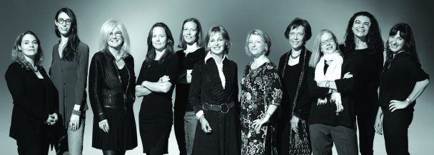 "The 11 award-winning female photojournalists who are featured in National Geographic's exhibition ""Women of Vision: National Geographic Photographers on Assignment,"" which opened at the National Geographic Museum on Thursday, Oct. 10.  From left: Erika Larsen, Kitra Cahana, Jodi Cobb, Amy Toensing, Carolyn Drake, Beverly Joubert, Stephanie Sinclair, Diane Cook, Lynn Johnson, Maggie Steber and Lynsey Addario. Photo credit: Mark Thiessen/National Geographic"