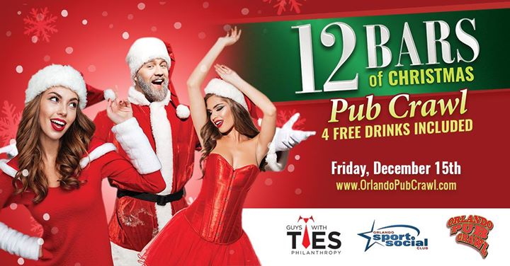 the 12 bars of christmas pub crawl