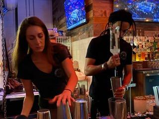 Barmen mixing