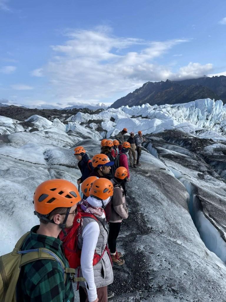hiking at Matanuska Glacier