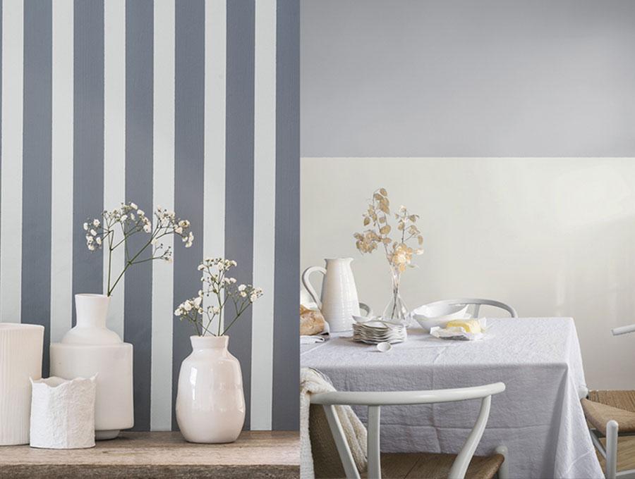 Cat Tembok Motif Garis Untuk Rumah Idaman Bunga Painting