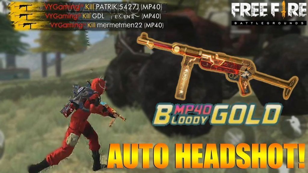 MP40 Bloody Gold Weapon
