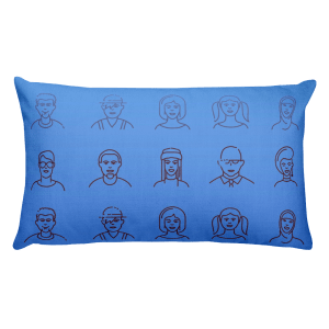 The Characters Throw Pillow
