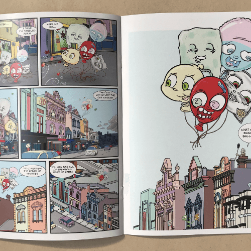 inside comic book
