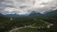 Cloudy day in Kananaskis Country, Alberta, Canada.