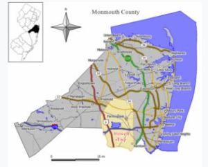 Howell NJ map