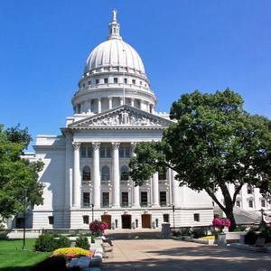 The capitol building in Madison, WI. Bunny started his career as a full-time professional musician in Madison in 1925.