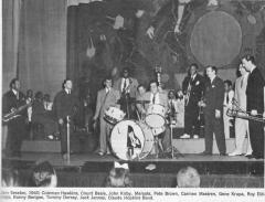 Berigan appears at an all-star jam session on the stage of the Apollo Theater, New York City, June 14, 1940.