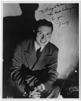 """Singer Danny Richards, the best male vocalist ever to sing with the Berigan band, shortly after joining Bunny in early 1939. Richards's recording of """"Skylark"""" with Berigan is a swing era classic."""