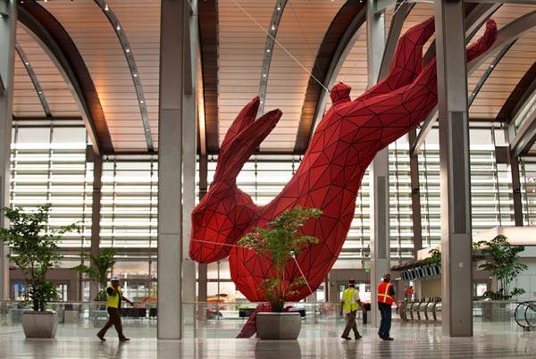 Monday Bunday Giant Red Rabbit Bunny Eats Design