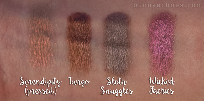 fyrinnae eyeshadows serendipity tango sloth snuggles wicked faeries swatches pinterest