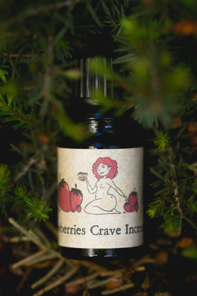 Arcana Craves Strawberries Crave Incense perfume oil bunnyechoes
