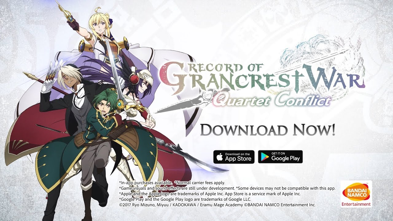 Mobile Record Of Grancrest War Quartet Conflict Available Now