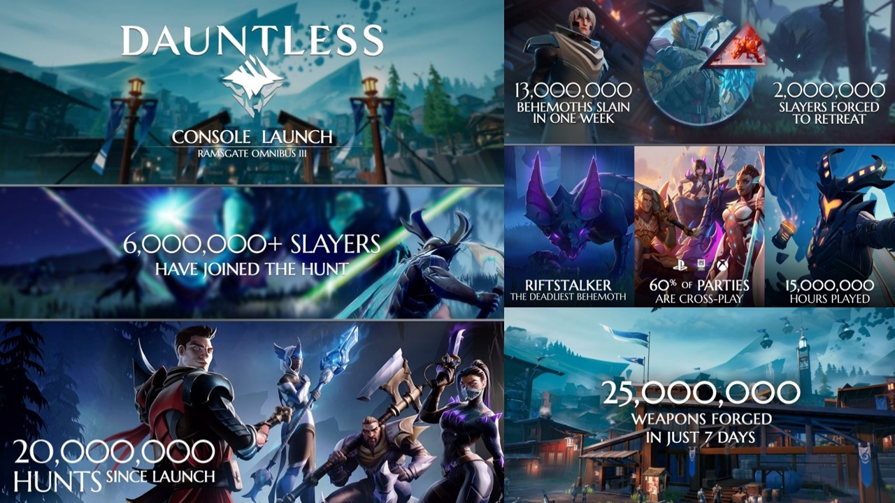 DAUNTLESS SURPASSES 6 MILLION PLAYER MARK IN UNDER A WEEK