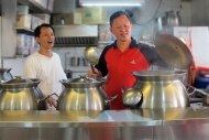 The talented and friendly chefs, Jimmy and Henry