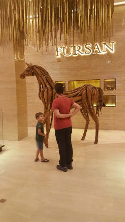 Fursan store - horse made from wooden pieces