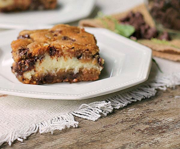 Chocolate Chip Cream Cheese Cookie bars