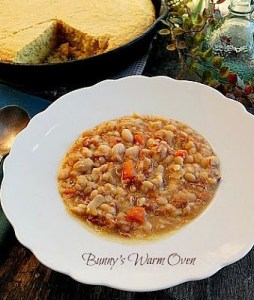 Old School Ham Bone Bean Soup
